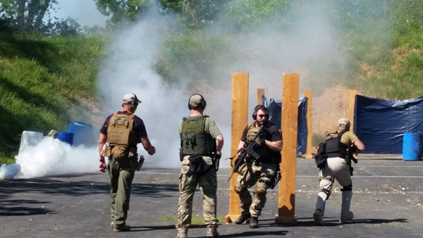 Smoke used by the military and law enforcement for training