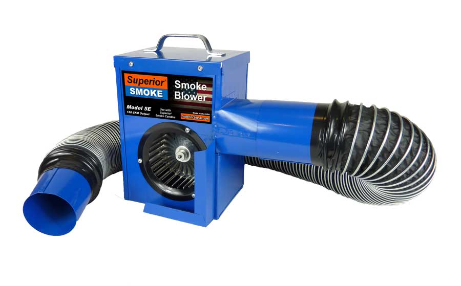 The 5E Smoke Blower is ideal for smoke testing building and house plumbing