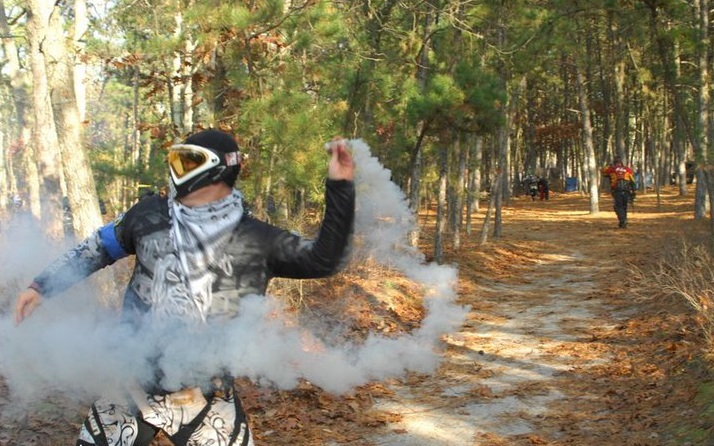 Sport smoke grenades used in Paintball and Airsoft