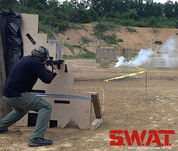 Smoke used to enhance shooting range drills