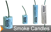 Smoke candles used to simulate IED smoke