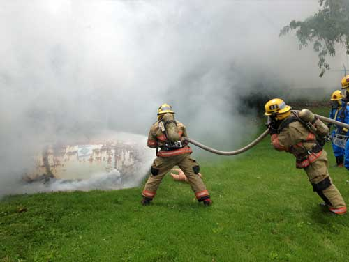 Smoke used in fire training