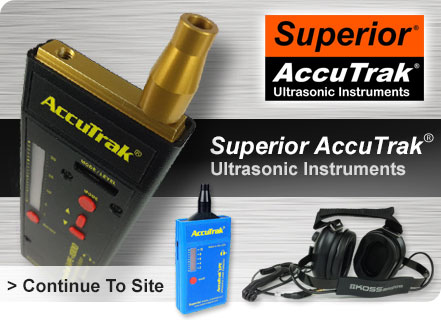 Superior AccuTrak Ultrasonic Instruments ultrasonic leak detection refrigerant leak detector air leak detector bearing wear ultrasonic leak detector