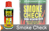 Smoke in a can for testing smoke detectors