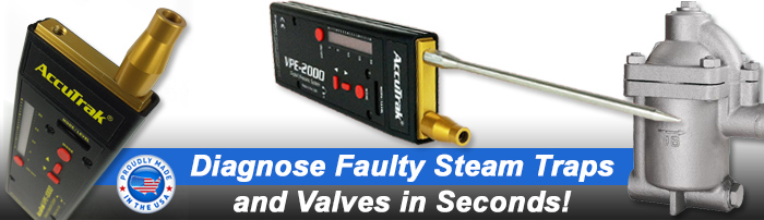Steam trap and valve ultrasonic leak detection