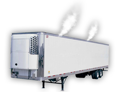 Smoke used to find leaks in trailers and containers